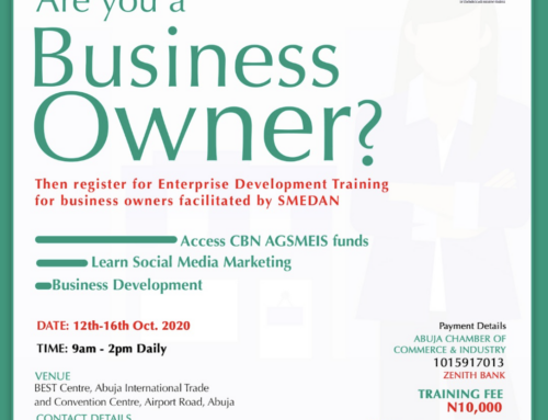 Reschedule of Enterprise Development Training for Business Owners