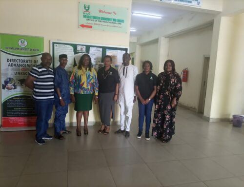 The Director ACCI BEST Centre, Ms Tinuke Temitope today paid a courtesy visit to the Directorate of Advancement and NOUN